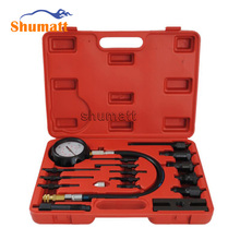 Diesel Engine Compression Fuel Injector Pump Oil Pressure Tester Garage Repair Tool Kits With Full Set Connectors ATC036(China)