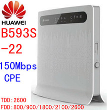 Unlocked Huawei B593s-22 150Mbps 3g 4G lte CPE mifi wifi Wireless Router 3g 4g Wifi Mobile dongle pk b593 b683 b890 e5172