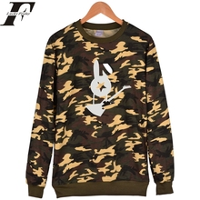 Bi-2 Rock Band Capless Camouflage Hoodies tracksuit men women Hip Hop Mens Hoodies And Sweatshirts Russian 2017 harajuku Clothes(China)