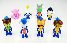 Fashion Cute Kids Toy Figures Octonauts Octo-Crew 8 Figure Pack Childrens Toys Baby Dolls Gfit 8Pcs
