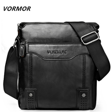 VORMOR Brand Fashion PU Leather Men's Messenger Bags Portfolio Office Men Bag,  Quality Travel Shoulder Bag Handbag for Man