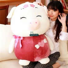 Dorimytrader Giant 80cm Cartoon Cute Fat Pig Doll Gift Lovely Stuffed Soft Plush Big Anime Pigs Toy DY61654