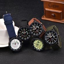 50pcs/lot Wholesale Watches Mens Nylon Band Back Light Cheap Quartz Wrist Watch Men Date Sports Military Clock relogio masculino(China)