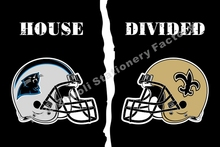 Carolina Panthers With New Orleans Saints USA Helmet House Divided NFL Premium Team Football Flag 3X5FT