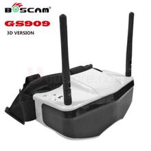 FPV Goggles Boscam GS909 5.8G 32CH 3D Video Glasses with Double Transmitting Lens 2D/3D For racing quadcopter