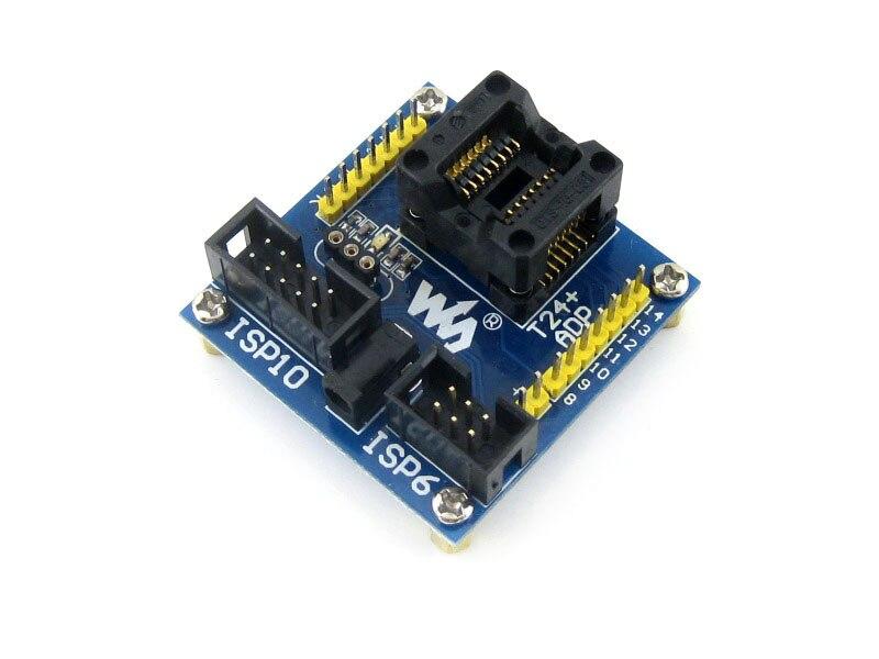 Modules ATtiny24A-SSU ATtiny24 ATtiny44 ATtiny84 AVR SOIC14 150 mil Programming Adapter Test Socket<br><br>Aliexpress