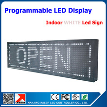 P10 advertising led sign board high bright white led screen sign 32*16 dot matrix led scrolling message display board(China)