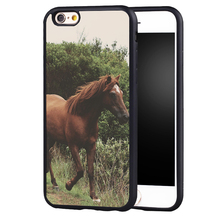 Wild horses Running  Animal original protect edge case cover For Samsung s4 s5 s6 S7 S6edge S8 S8plus note 2 3 4 5