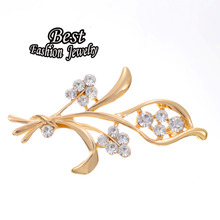 New Style Flower Brooch Women's Fashion Scarf Corsage Charming Banquet Jewelry For Female(China)