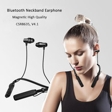 Neckband New Bluetooth V4.1 Earphone for Sony Wireless Sport Headphone Sweatproof Headset HIFI Stereo Music for All Smart Phone(China)