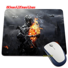 Funny item Battlefield 3 fire skulls soldiers video games wallpaper Mouse Mats Anti-Slip Rectangle Mouse Pad