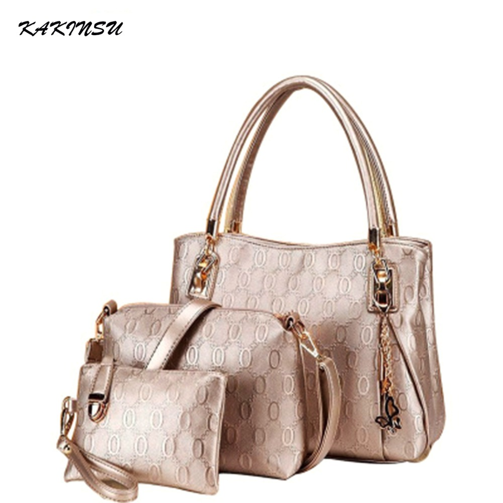 2016 Fashion Handbags Women Synthetic Leather Shoulder Bag Satchel Picture Handbag 3pcs Casual Party Bag Drop Shipping #Z8905<br><br>Aliexpress