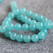 T8117 New style 10mm light blue Saphire chalcedony Round Loose Beads! Fit For Making Bracelet&Necklace DIY Jewelry wholesale