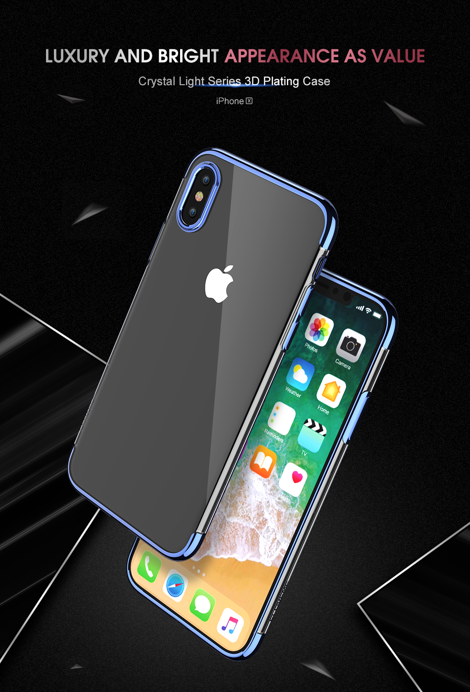 FLOVEME Luxury Plated TPU Case For iPhone X 10 Transparent Ultra Thin Silicone Cover For iPhone 7 6 6S Plus Phone Accessories 3