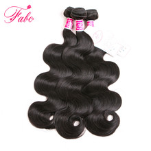 Fabc Hair Brazilian Body Wave 100% Human Hair Weave Bundles Natural Black Color Non-Remy Hair Extensions Can Buy 3 or 4 Bundles