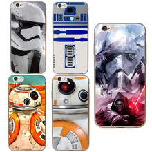 Star Wars The Force Awakens Bb-8 Droid Robot R2D2 Hard Phone Case Cover For iphone 7 7Plus 5 5S SE 6s Plus 6 6S Marvel Cases