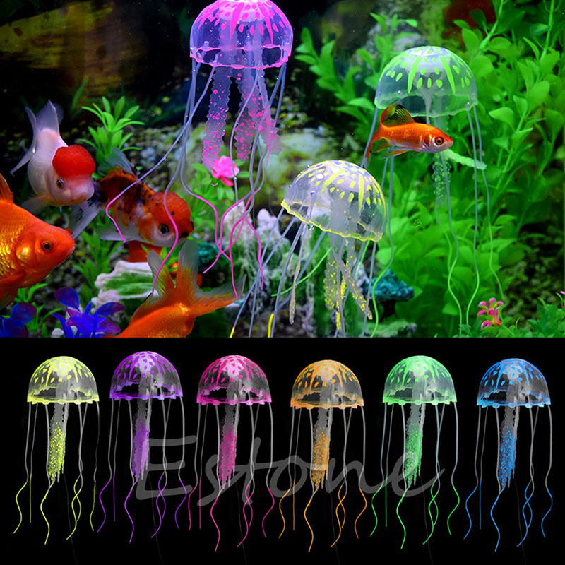 Popular artificial jellyfish aquarium buy cheap artificial for Aquarium decoration ornaments
