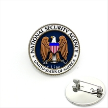 New Arrival brown dove and flag military brooch United states of America National security agency party accessory MI039(China)