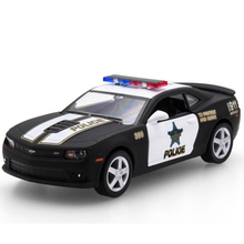 Brand New Ford 2006 Mustang GT Police Car Alloy Diecast Model Car Vehicle Toy Collection As Gift For Boy Children m436