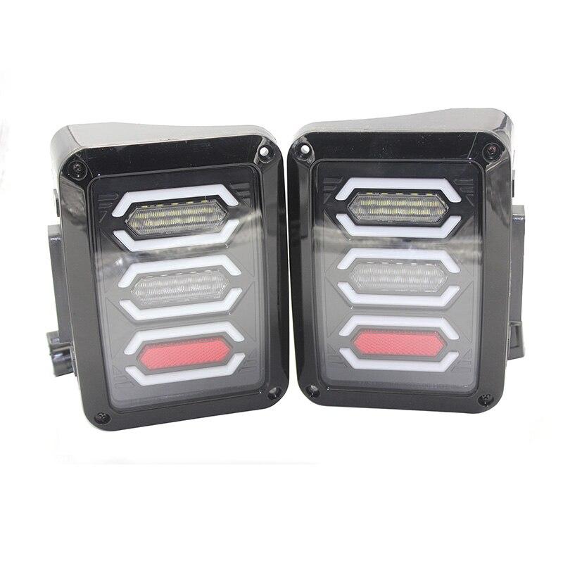 LED Tail Lights Kit, For 2007 to 2016 Jeep JK Wrangler ,Turn signal Backup Stop Reverse Light  ( USA / EUROPE VERSION)<br>