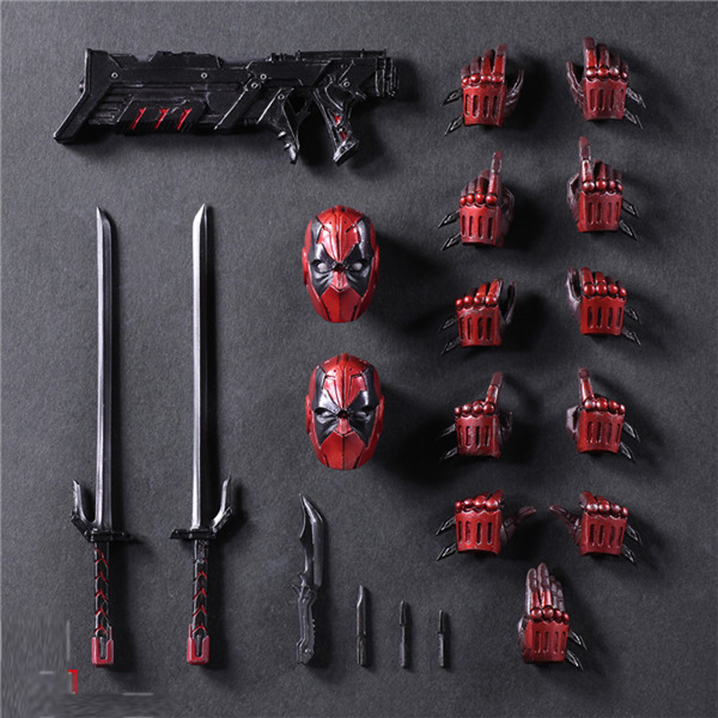 26cm Deadpool Figure Wolverine X-MEN Play Arts Dead Pool PVC Action Figures Resin Collection Model Doll Toy Gifts (5)
