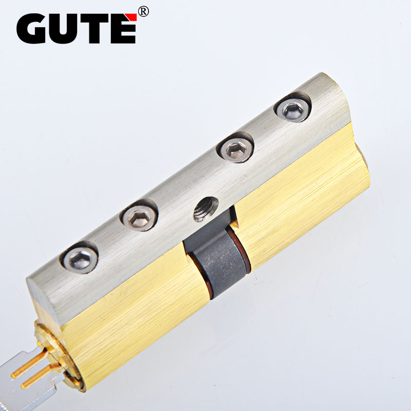 GUTE Brass Cylinder C Grade Copper Door Lock Core 8Keys High Security Lock Core Double Open Anti-Snap Anti-Drill