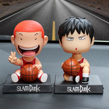 Slam Dunk Bobble Head 1/10 scale painted Hanamichi Sakuragi & Rukawa Kaede ACGN PVC Action Figure Collectible Model Toy 2pcs/set