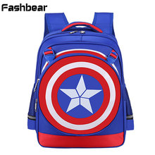 4-10T Kids School Backpack For Teenagers Children Back Pack Orthopedic Schoolbag For Boys Character Rucksacks mochila escolar(China)