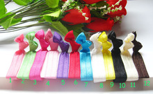 100PCS WHOLESALE 12 Color Elastic Hair Ties ponytail holders emi twist foe yoga jay Ribbon bands hair accessories #H13