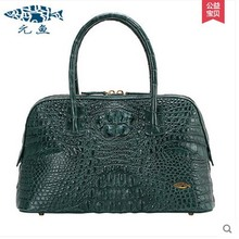yuanyu 2017 new hot free shipping Import the real Nile crocodile handbag big women handbag leather bag women shell bag(China)