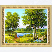 nature rubiks cube dmc pictures 5383R - Round Diamond embroidery cross stitch diamond mosaic painting(China)