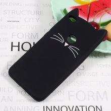 for Huawei P8 Lite (2017) Nova Lite Cases Cute 3D Mustache Cat Soft Silicone Cover Case for Huawei P 8 Lite (2017) Honor 8 Lite