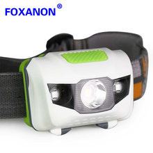 Led Headlight 4 Modes 2 Red 2835 SMD + 1 White XPE Waterproof Leds Head lamp for Cycling Camping Fishing Mountaineer(China)