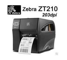 Zebra industrial grade barcode printer can keep working 24 hours ZT210 203dpi thermal transfer printer hang tag printing machine(China)