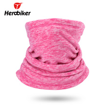 HEROBIKER Motorcycle Face Mask Windproof Cycling Skiing Mask Moto Thermal Fleece Mask Neckerchief Autumn Winter Scarf Headband(China)