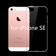 2017 For iPhone 5 5S SE Crystal Clear Silicon Back Cover Phone Bags Ultra Thin Soft TPU Transparent Cases + Dust plug