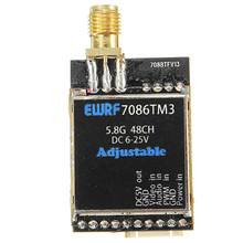 Hot New EWRF 7086TM3 5.8G 48CH 25/200/600mW Switchable Raceband Wireless FPV Audio Video Transmitter(China)
