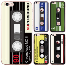 Cassette Tape Design Soft Silicon TPU Case For iphone 5 5S SE 6 6S Plus 6Plus Transparent Phone Back Cover For iphone 7 Cases(China)