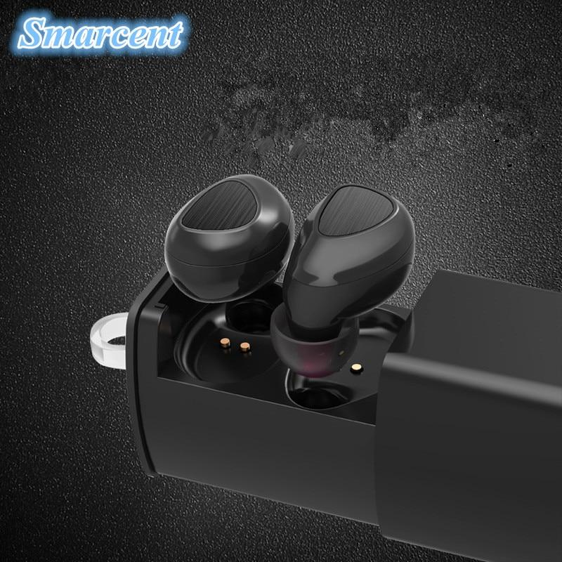 Smarcent i7 TWS Bluetooth Earphone Mini Twins True Stereo Earbuds Wireless Dual Headphones for iPhone 7 Xiaomi + Charging Socket<br>
