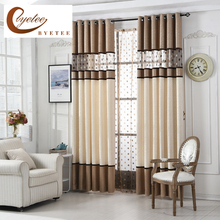 [byetee] High Quality Luxury Curtain For Bedroom Kitchen Curtains For Living Room Modern Cortinas Fabric Window String Curtains(China)