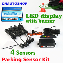 (Gift Box) Car LED Parking Sensor Kit Display 4 Sensors 22mm for all cars Reverse Assistance Radar Monitor System
