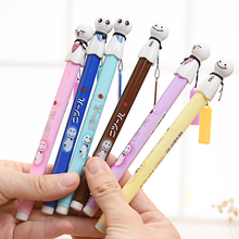 6 Pcs / Pack Sunny Doll Gel Pen For Writing Japanese Kawaii Pens Stationery Papelaria Office Supply School Canetas