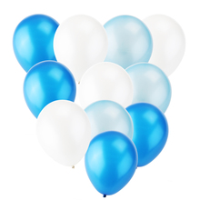 30pcs 12-inch Pearl Latex Balloons for Wedding Birthday Party Balloons Toy for Kids Having Fun (Navy Blue & Light Blue * White)