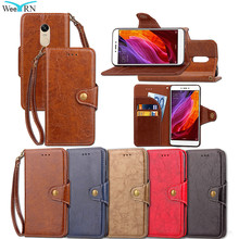 Vintage Leather Wallet Flip Case Cover Xiaomi Redmi Note 4 /Redmi Note 4X 5.5 Funda Luxury Card Stand Cover Case Redmi Note 4/4X