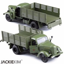 1:36 Jiefang Military Diecast Truck Model With Light Sound And Army Car Green Truck Miliary Model Children Toys FreeShipping