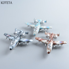 Koteta Alloy Diecast Airplane Model with Flashing Lights Sounds Kids Toys Aircraft Model Toy for Children Christmas Boys Gifts(China)