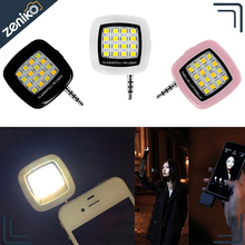 Mini Portable 16 LED Spotlight Smartphone led Selfie Light for iPhone and Android Devices for External Flash Fill Light Self