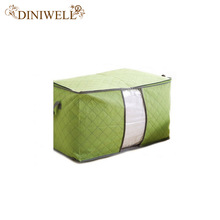 DINIWELL Bamboo Nonwoven  Bedding Quilt Pillow Blanket Clothing Storage Zipper Bag Case Container Box Cloest Divider Organizer