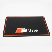 Super Sticky Sline Car Mobile Phone Pad S line Anti-Slip Mat Silicone for AUDI A4 B6 C5 A3 A5 B8 Q5 A6 C6 B7 Q7 B5 Car Styling
