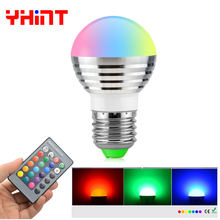 Hot sale E27/E14 16 Color Changeable RGB Magic Bulb Lamp christmas Led Spotlight with IR Remote Control home decoration light